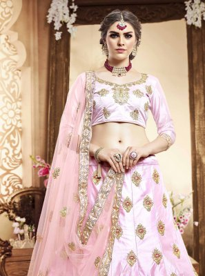 Zari Silk Pink Lehenga Choli