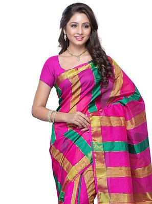 Zari Tussar Silk Designer Traditional Saree