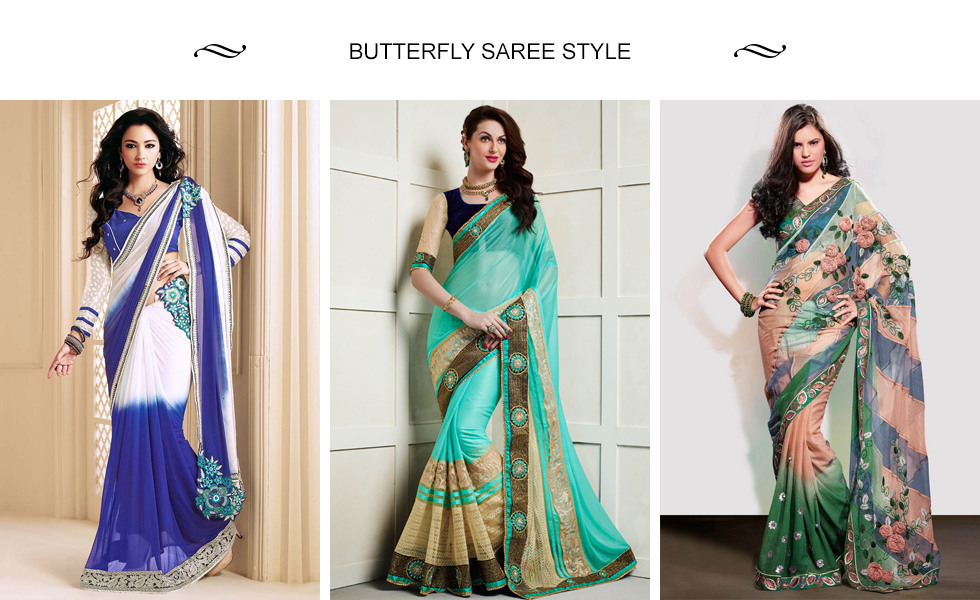 Butterfly Saree Styles